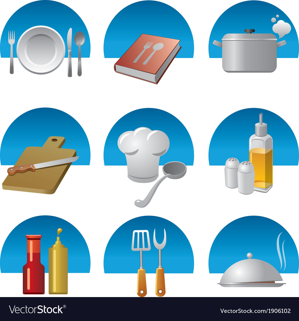 Cooking icons fon vector | Price: 3 Credit (USD $3)