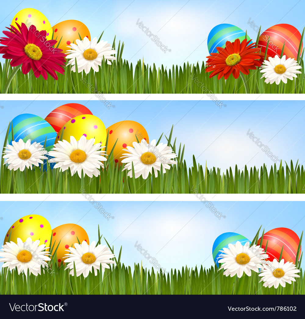 Easter banners vector   Price: 1 Credit (USD $1)
