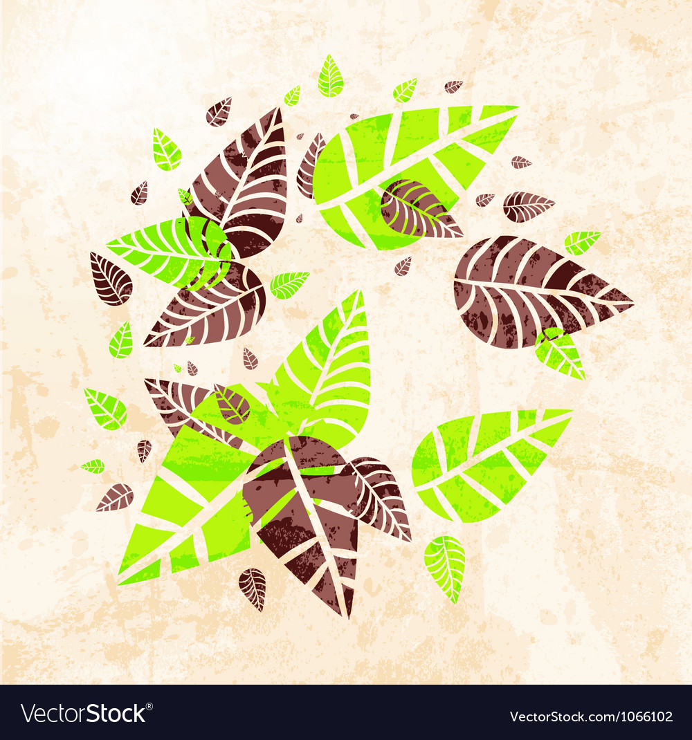 Floral leaves background vector | Price: 1 Credit (USD $1)