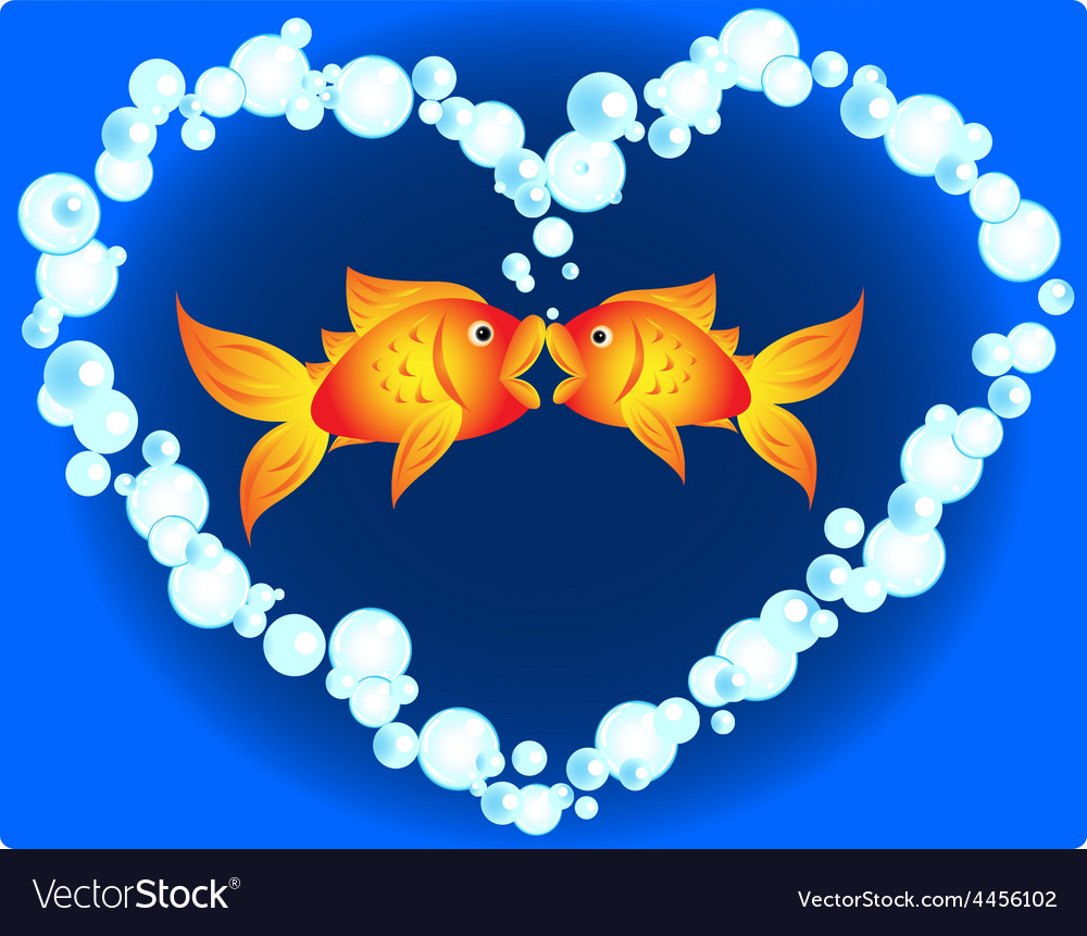 Goldfish love vector | Price: 1 Credit (USD $1)