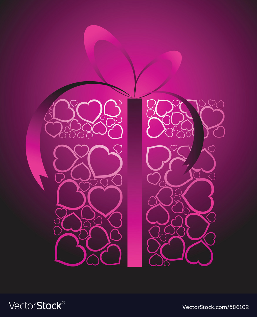 Love present box vector | Price: 1 Credit (USD $1)