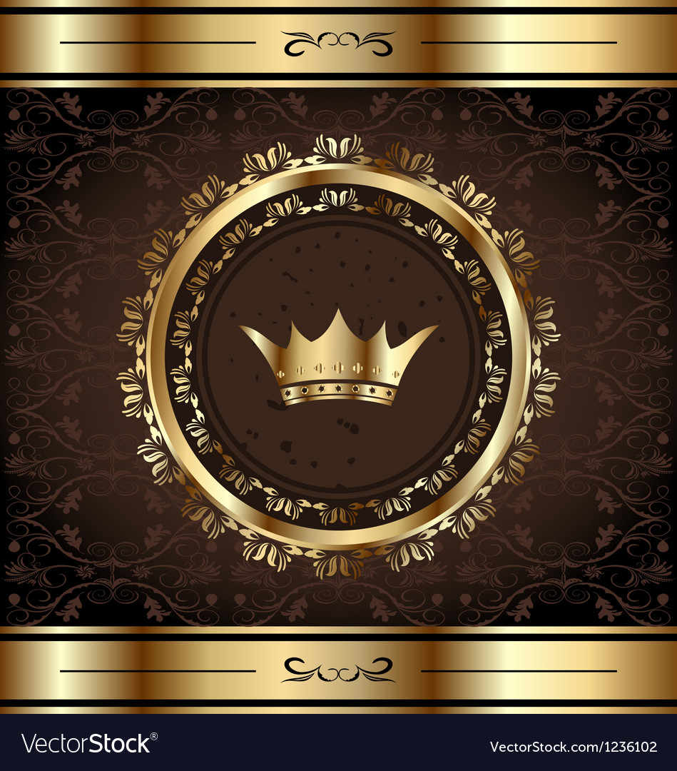 Royal background with golden ornate frame and vector | Price: 1 Credit (USD $1)
