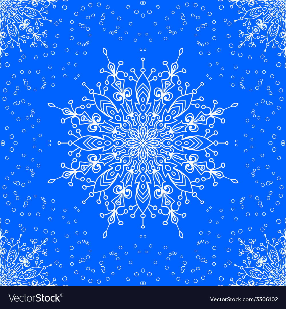 Seamless with winter lace snowflake motiv vector | Price: 1 Credit (USD $1)