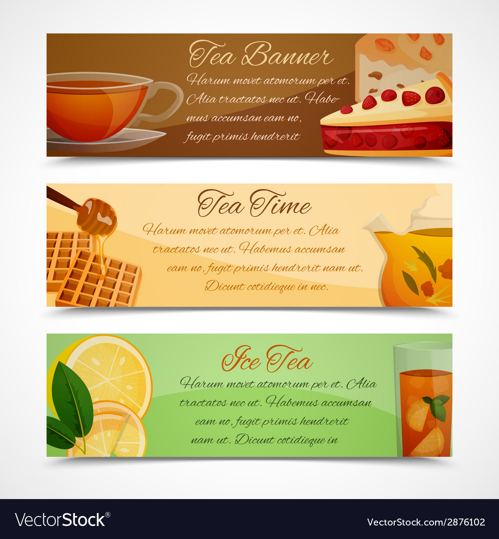 Tea banners set vector | Price: 1 Credit (USD $1)