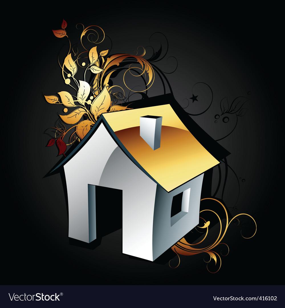Web icon house vector | Price: 1 Credit (USD $1)
