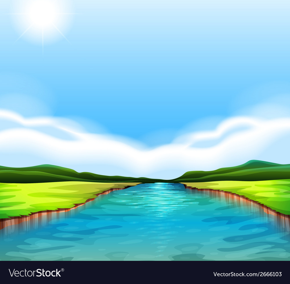 A flowing river vector | Price: 1 Credit (USD $1)