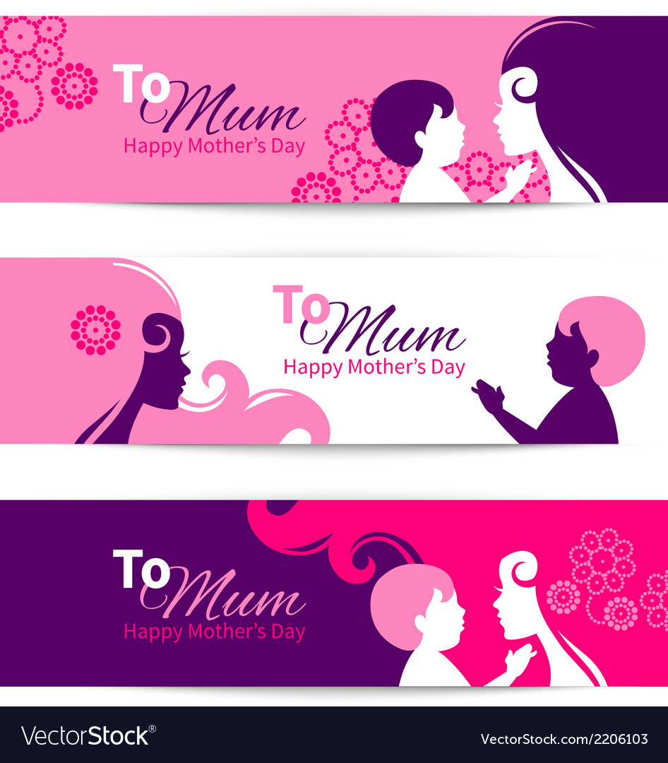 Banners for happy mothers day vector | Price: 1 Credit (USD $1)