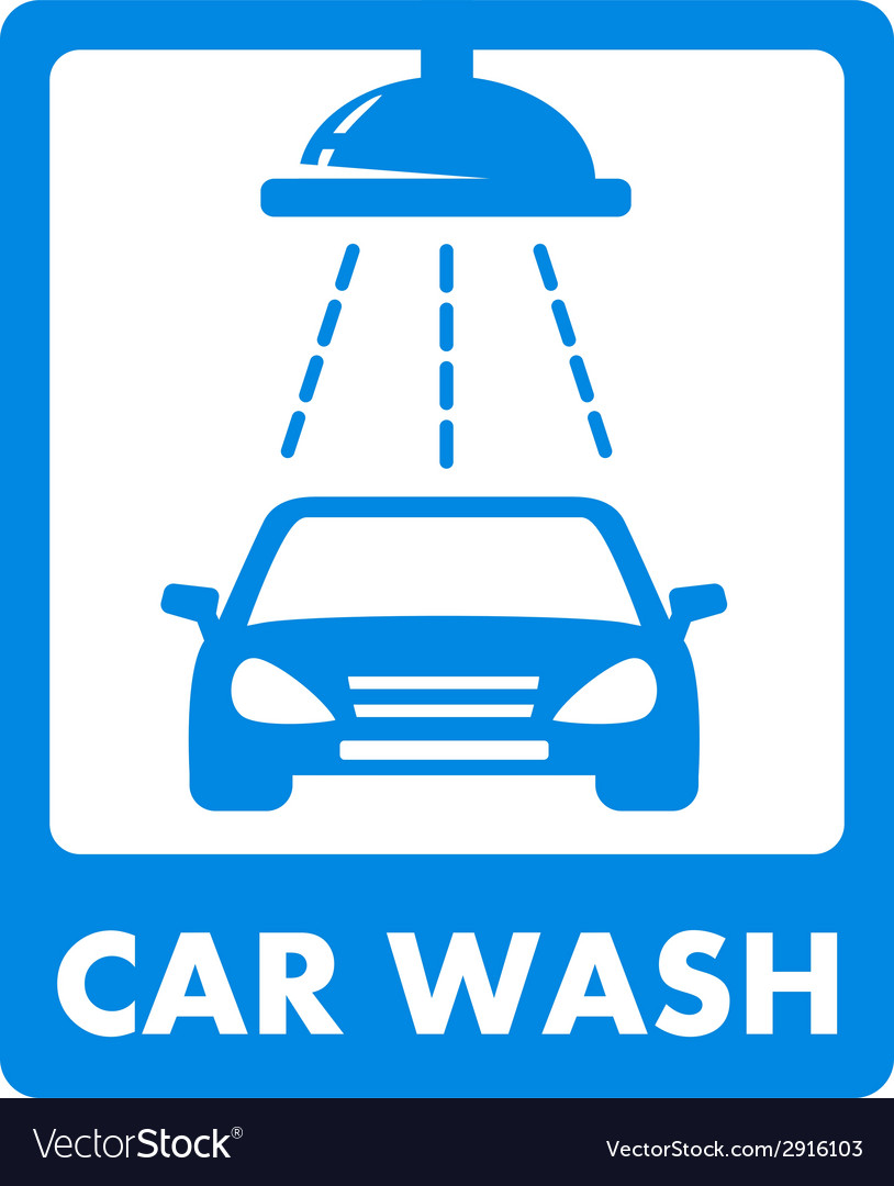 Blue car wash icon vector | Price: 1 Credit (USD $1)