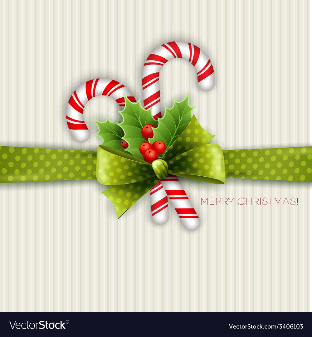 Christmas decoration with holly leaves vector | Price: 1 Credit (USD $1)