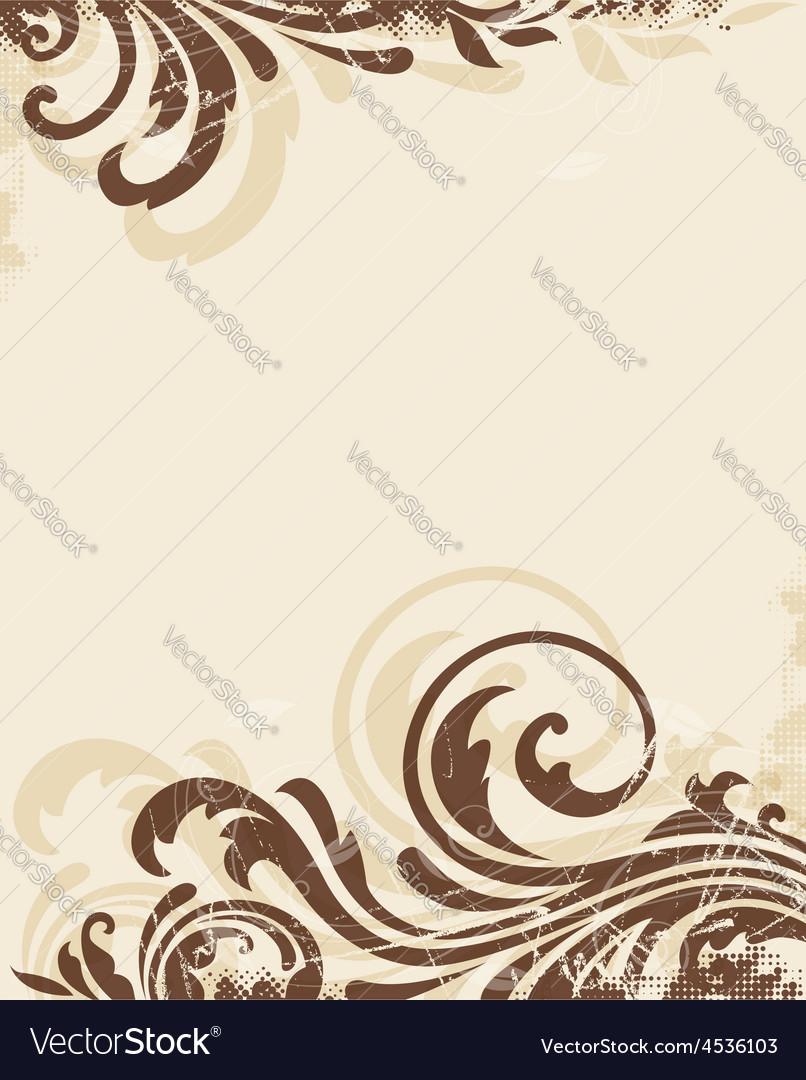Decorative vintage floral background vector | Price: 1 Credit (USD $1)