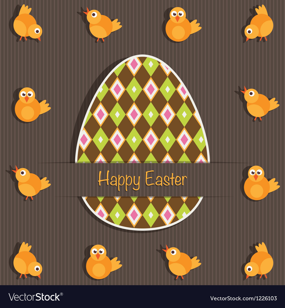 Easter greeting card vector | Price: 1 Credit (USD $1)