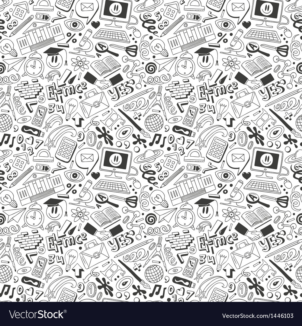 Education - seamless background vector | Price: 1 Credit (USD $1)