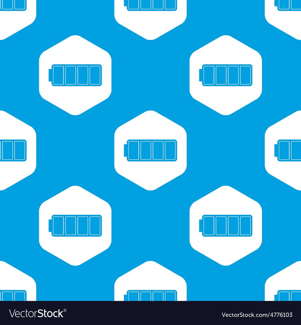 Full battery hexagon pattern vector   Price: 1 Credit (USD $1)