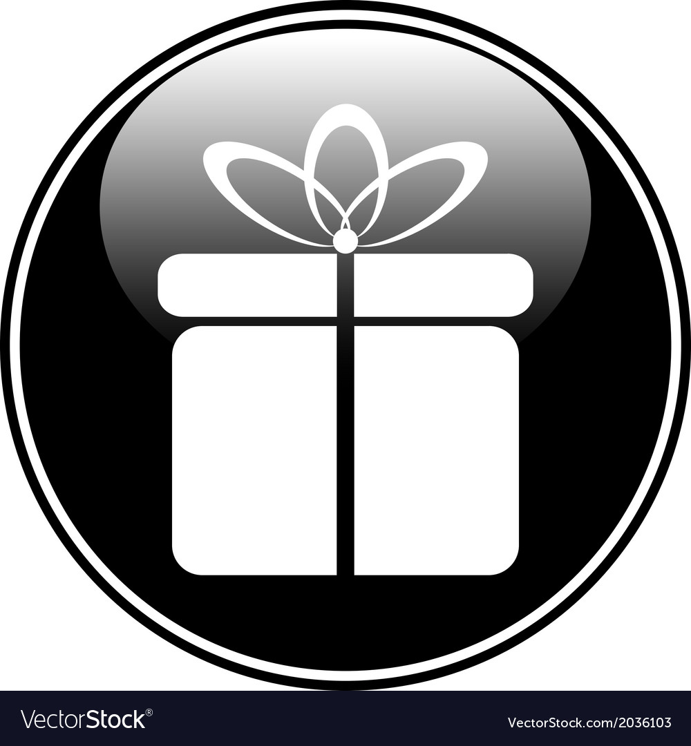 Gift button vector | Price: 1 Credit (USD $1)