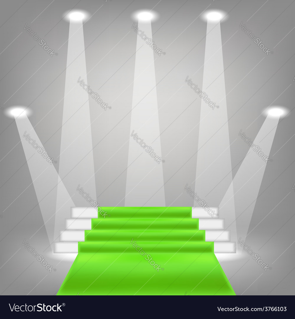 Green carpet vector | Price: 1 Credit (USD $1)