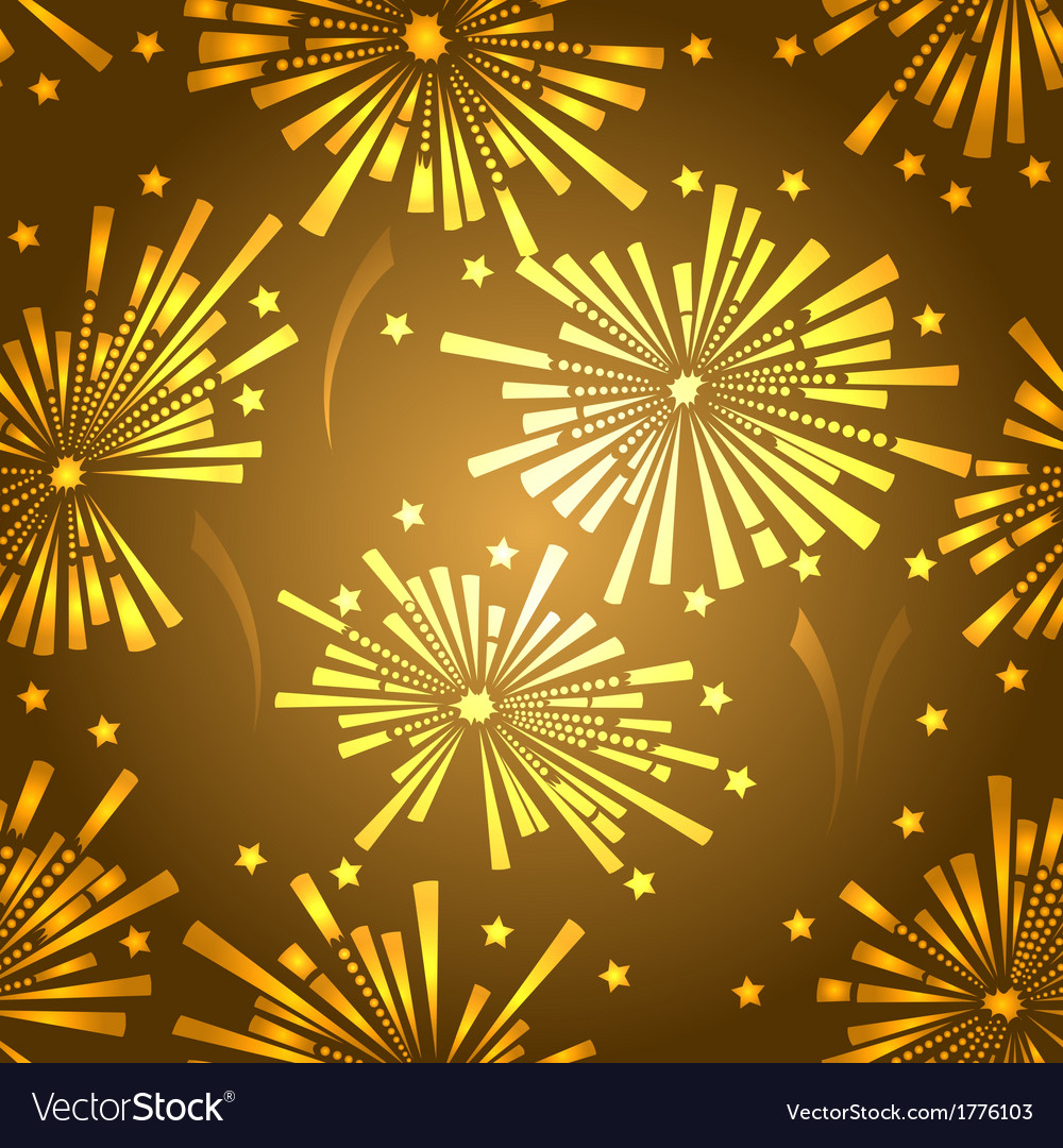 Holiday new year fireworks seamless pattern vector | Price: 1 Credit (USD $1)
