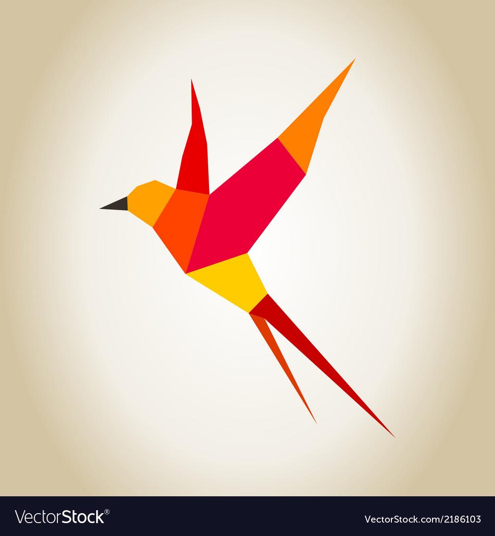 Red bird vector | Price: 1 Credit (USD $1)