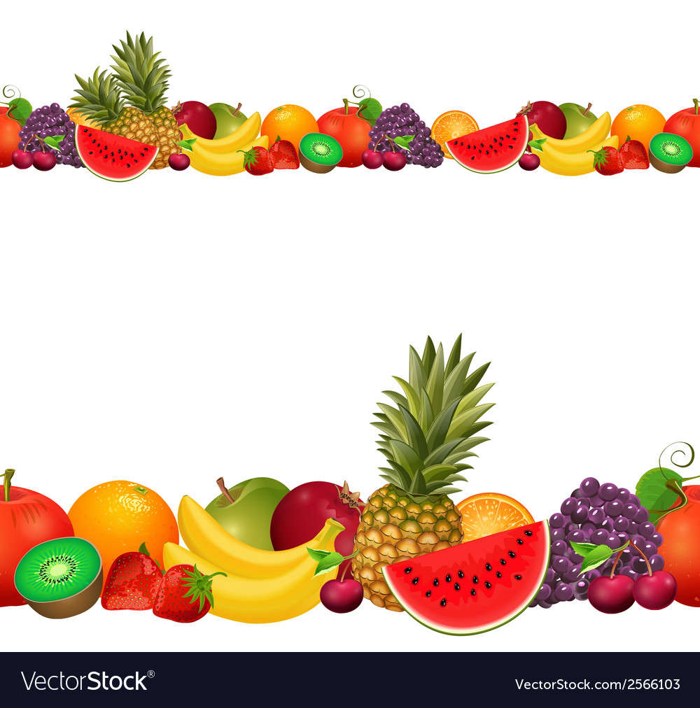 Seamless border of fruit vector | Price: 1 Credit (USD $1)