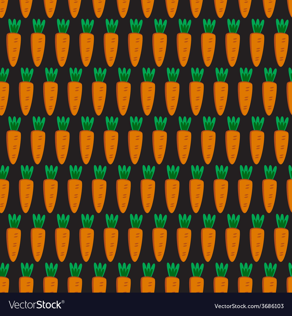 Seamless pattern with carrots vector | Price: 1 Credit (USD $1)
