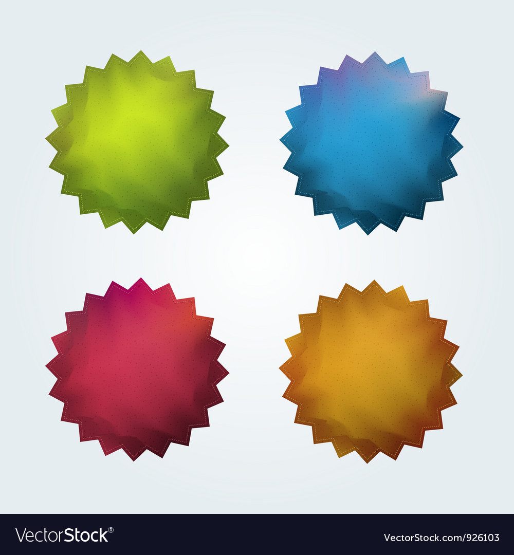Set of 4 quality stickers vector | Price: 1 Credit (USD $1)