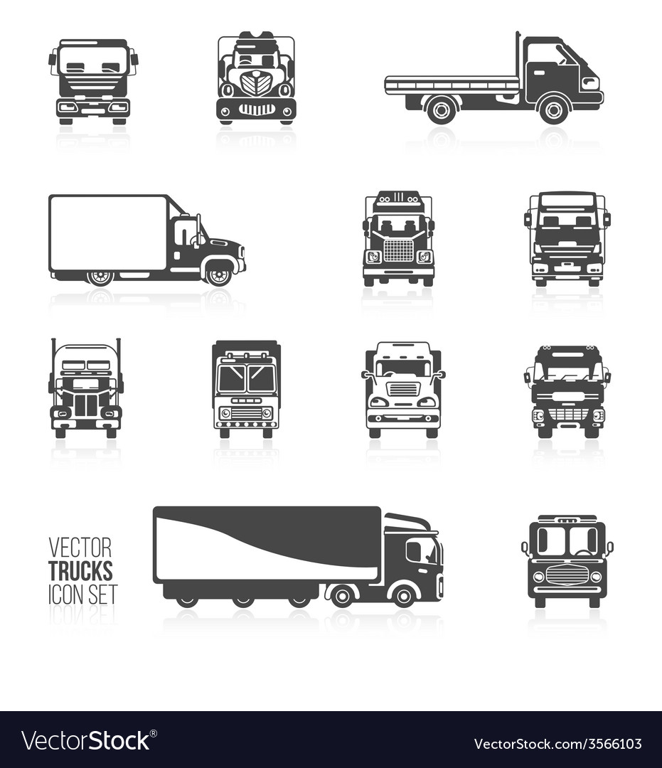 Truck icons set vector | Price: 1 Credit (USD $1)