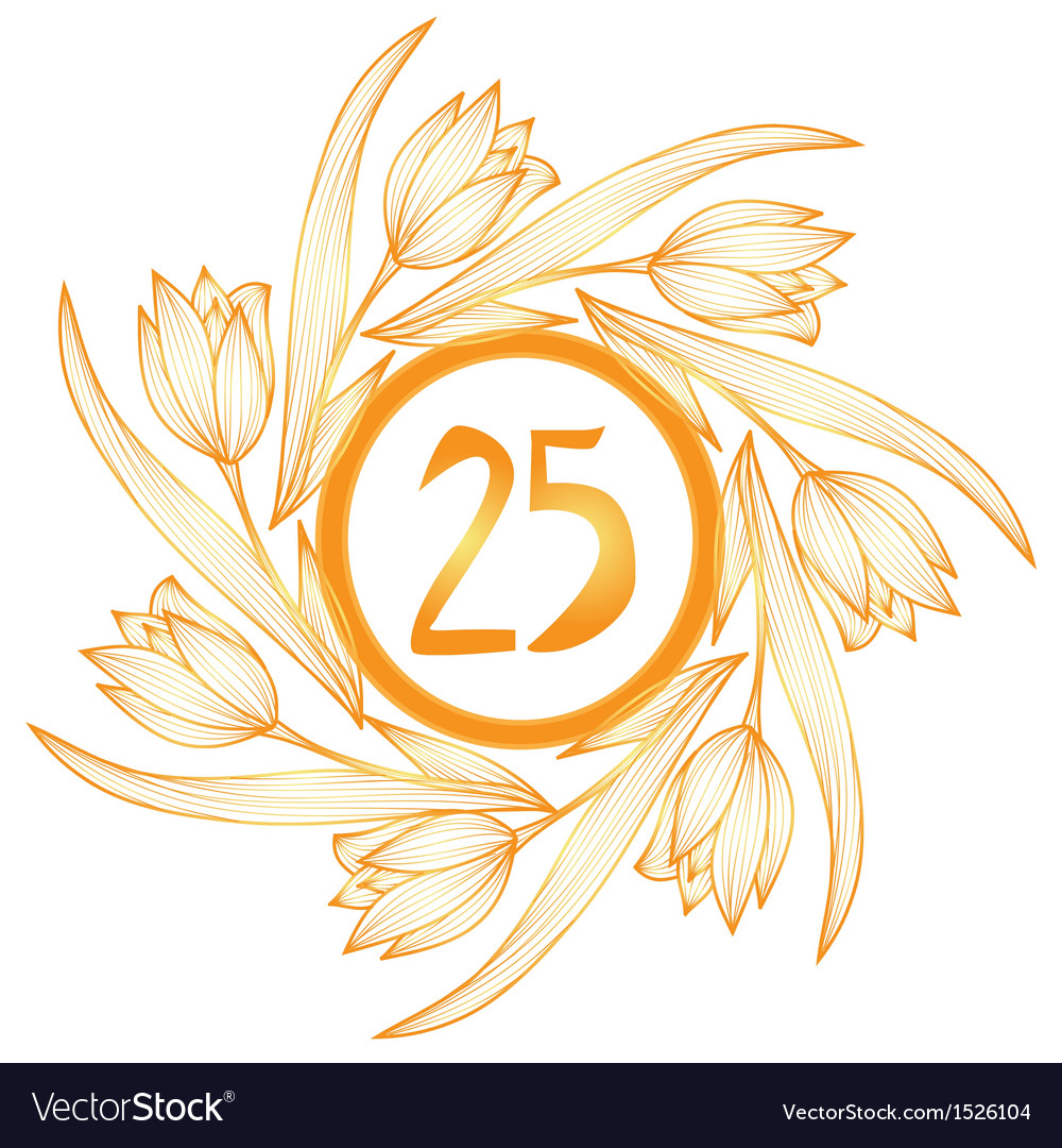 25th anniversary banner vector | Price: 1 Credit (USD $1)
