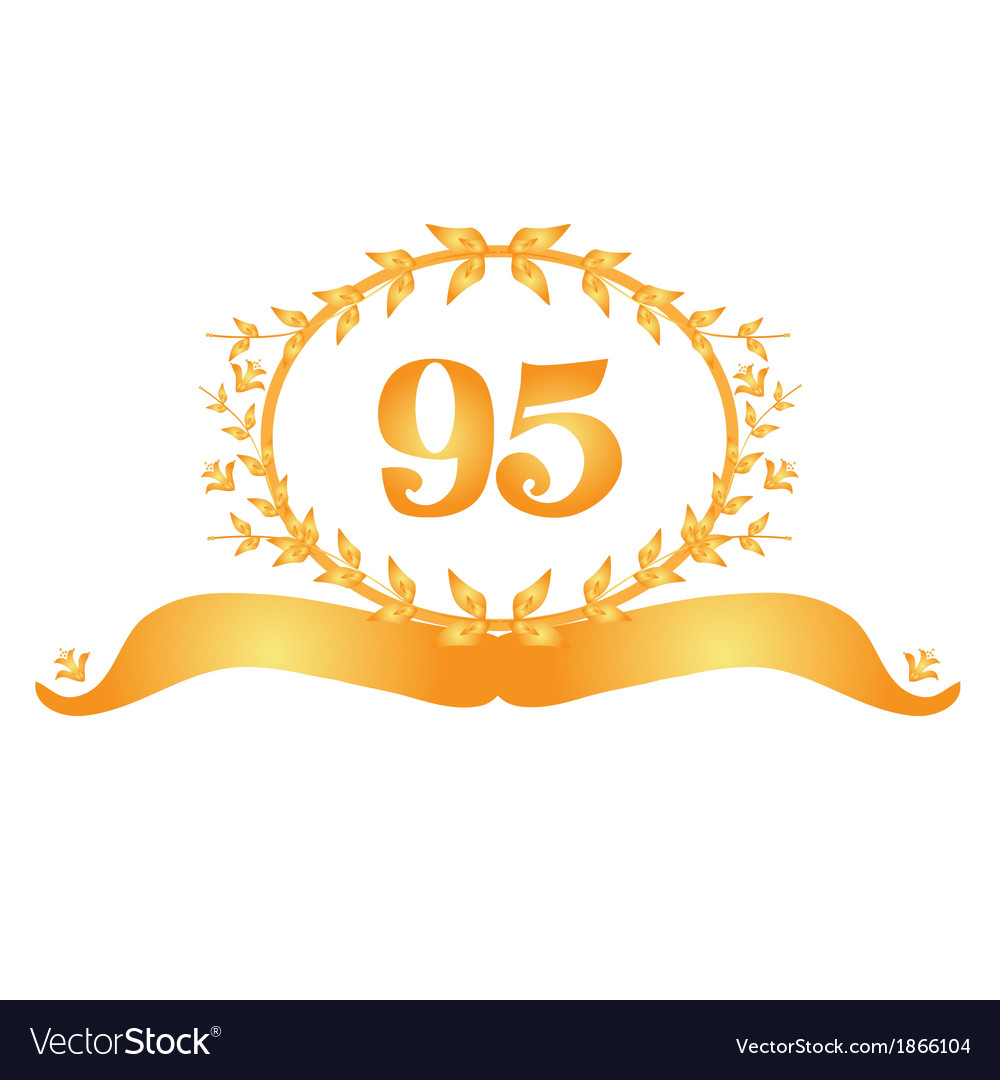 95th anniversary banner vector | Price: 1 Credit (USD $1)