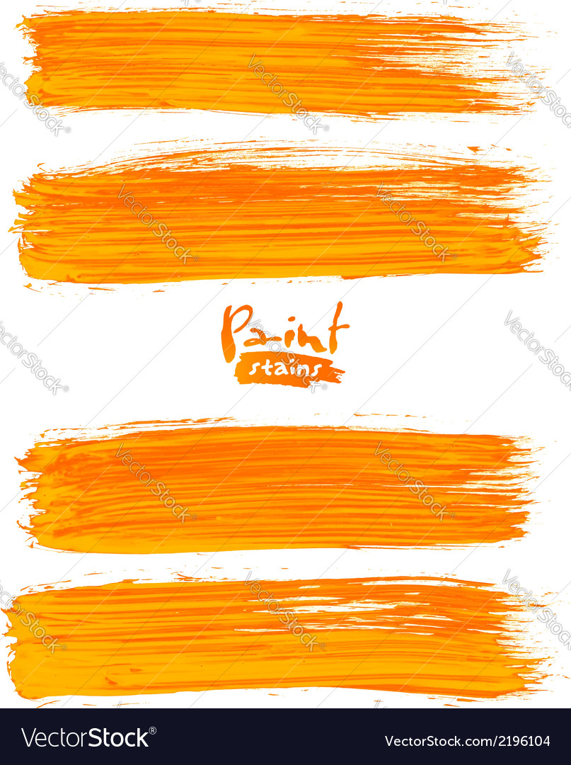 Bright orange acrylic brush strokes vector | Price: 1 Credit (USD $1)