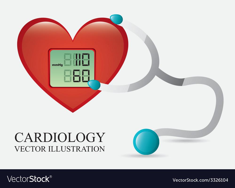 Cardiology design vector | Price: 1 Credit (USD $1)