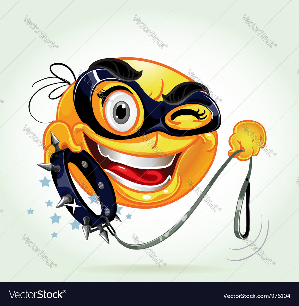 Funny smile with varnish mask vector | Price: 3 Credit (USD $3)