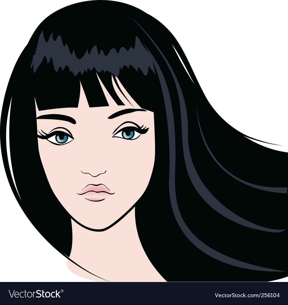 Girl face vector | Price: 3 Credit (USD $3)