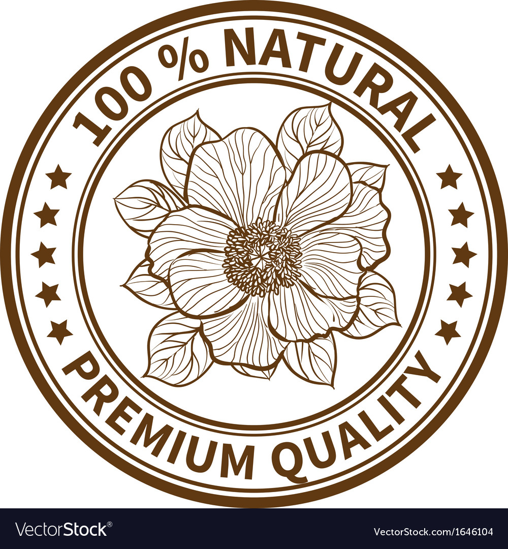 Stamp with the flower of peony vector   Price: 1 Credit (USD $1)
