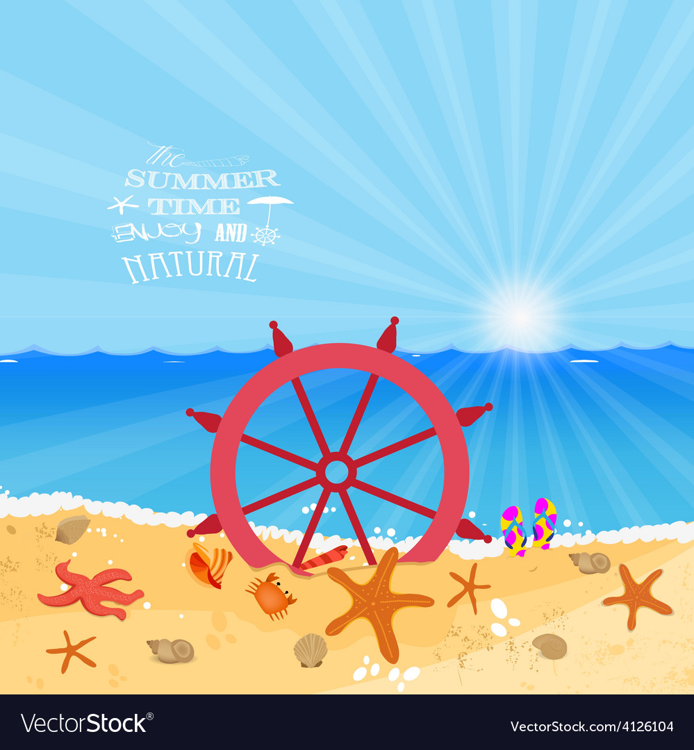 Summer holiday enjoy vector | Price: 1 Credit (USD $1)