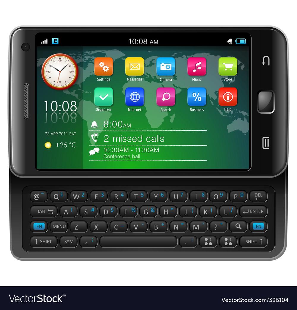 Touchscreen smartphone vector | Price: 3 Credit (USD $3)