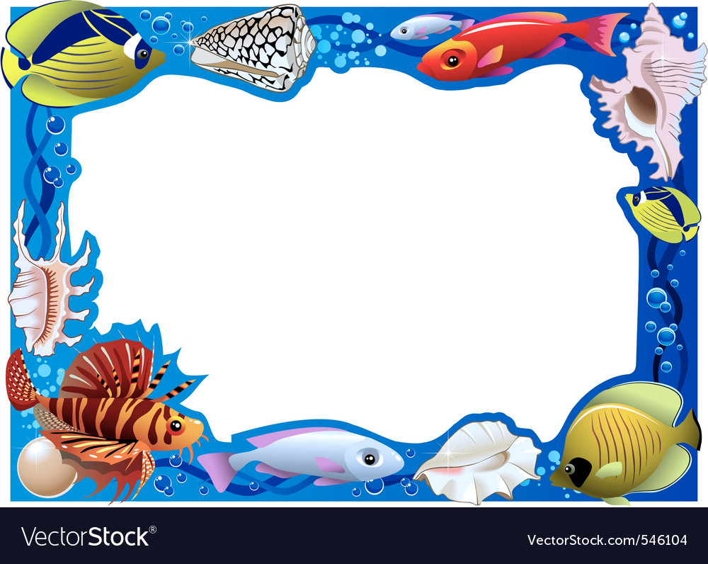 Underwater frame vector | Price: 1 Credit (USD $1)