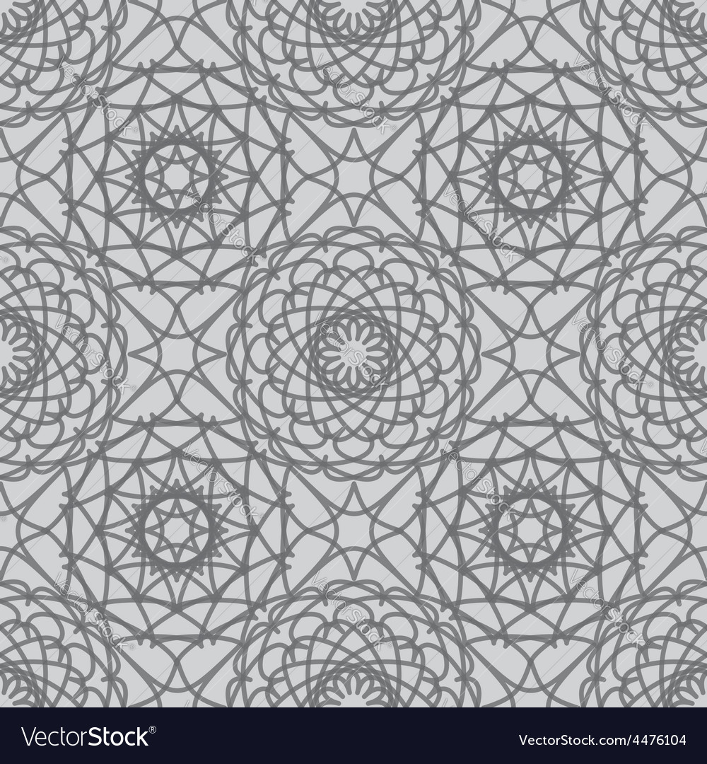 Vintage lace seamless pattern vector | Price: 1 Credit (USD $1)