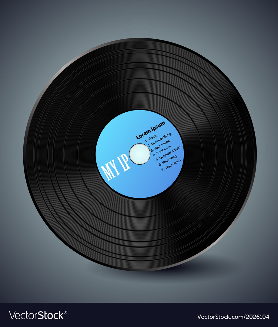 Vinyl design vector | Price: 1 Credit (USD $1)