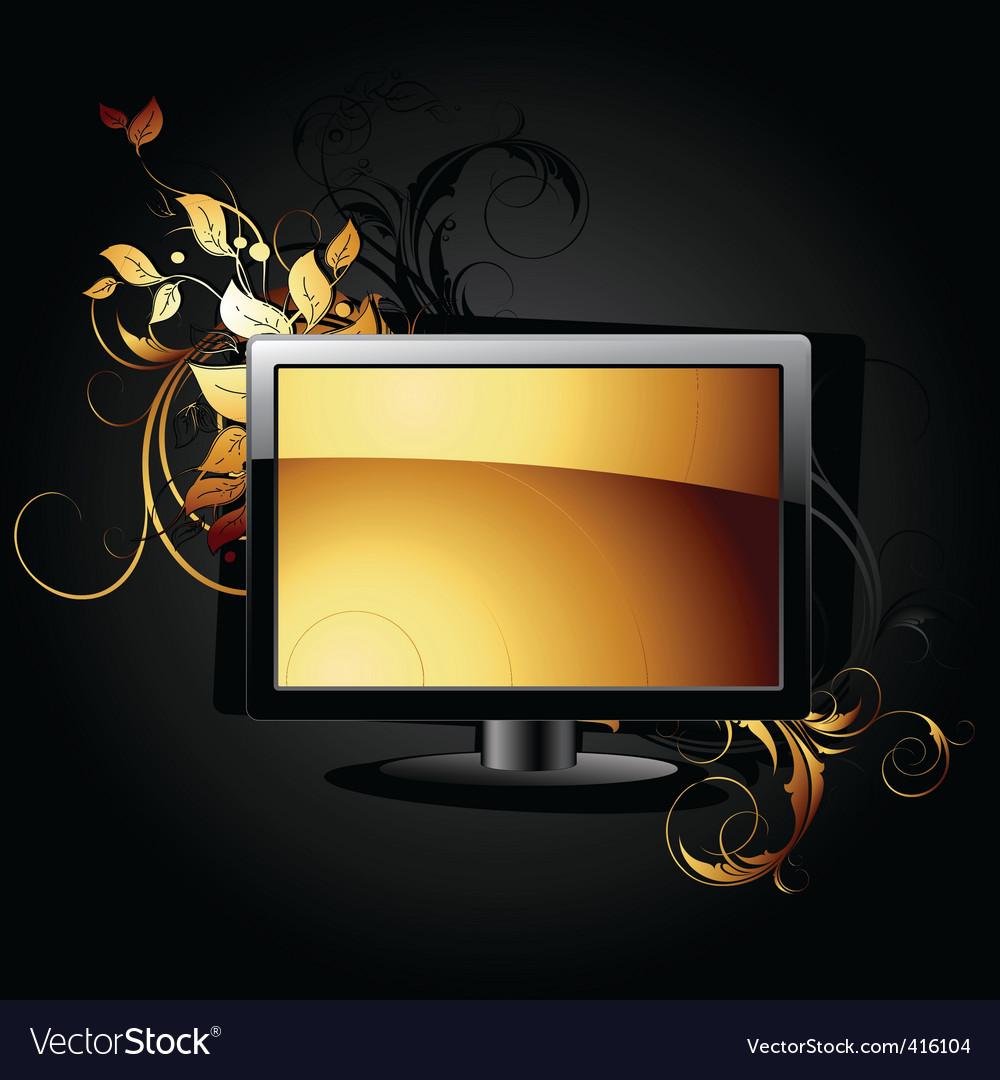 Web icon lcd panel vector | Price: 1 Credit (USD $1)