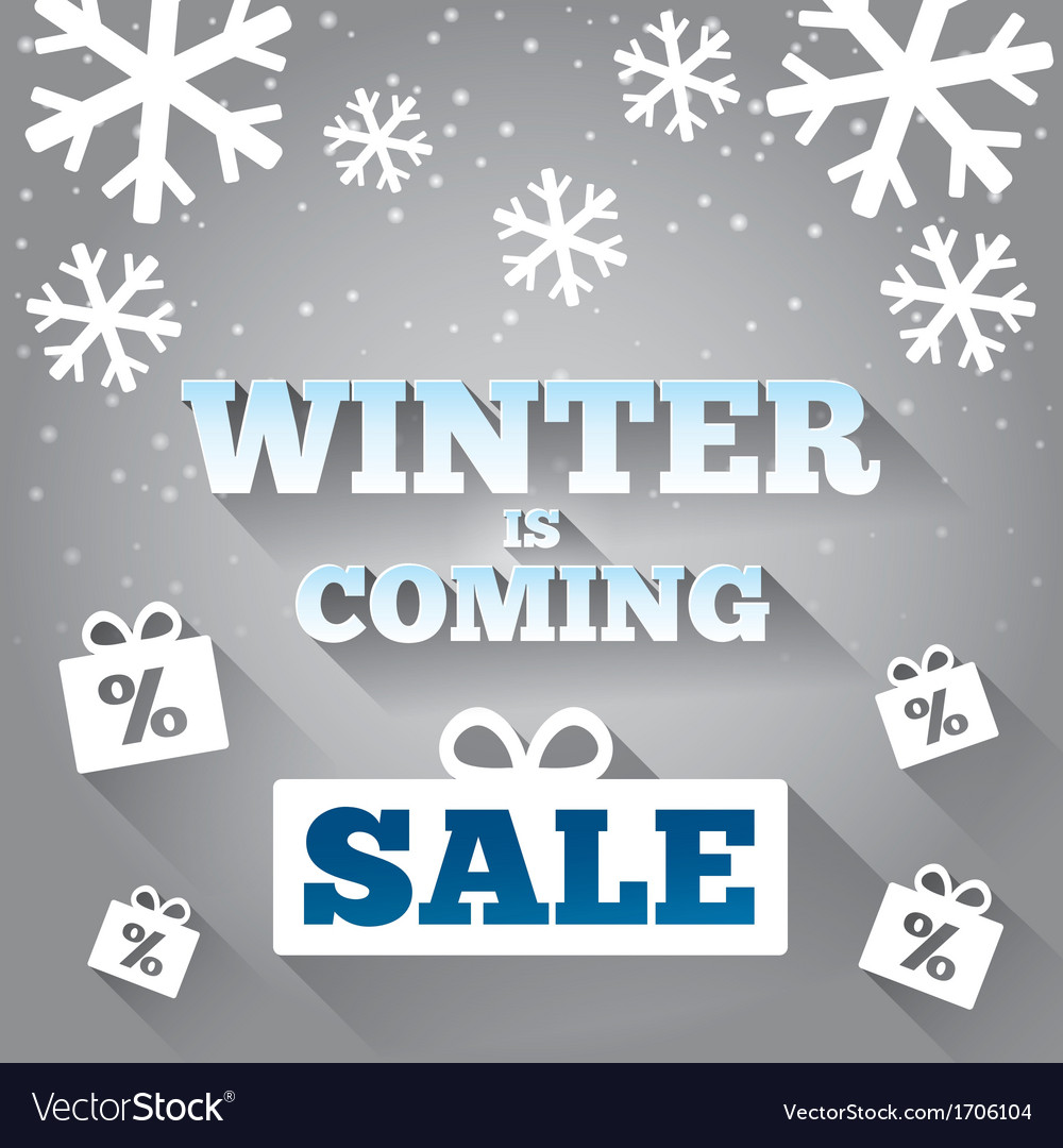 Winter is coming sale background merry christmas vector | Price: 1 Credit (USD $1)