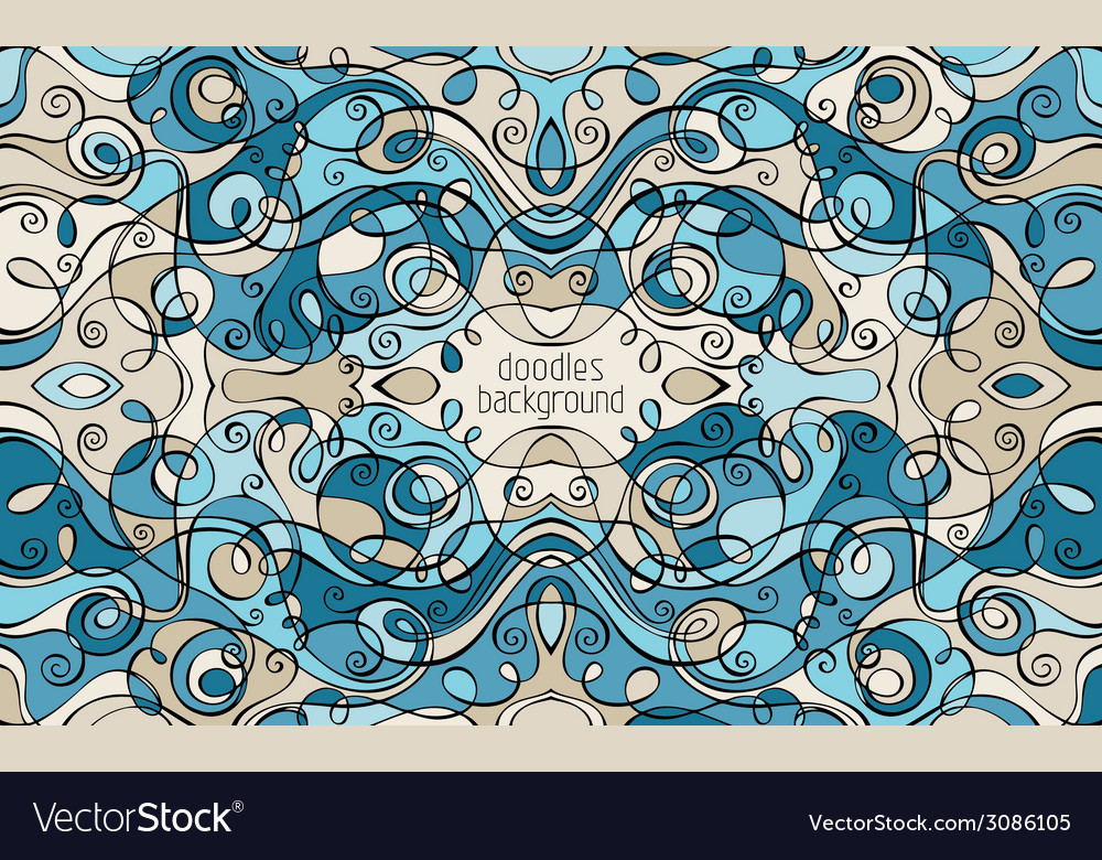 Abstract decorative doodles background vector | Price: 1 Credit (USD $1)