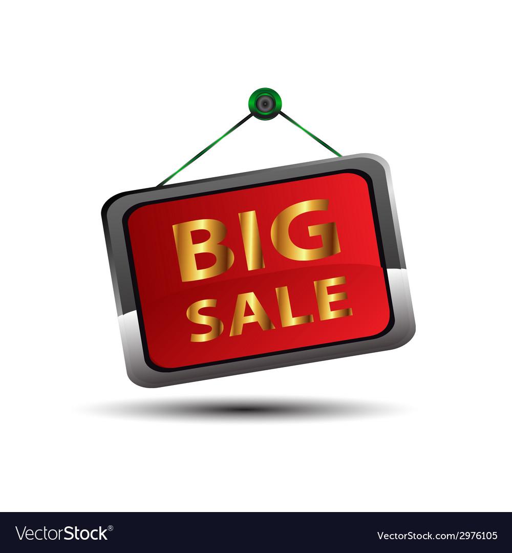 Big sale icon vector | Price: 1 Credit (USD $1)