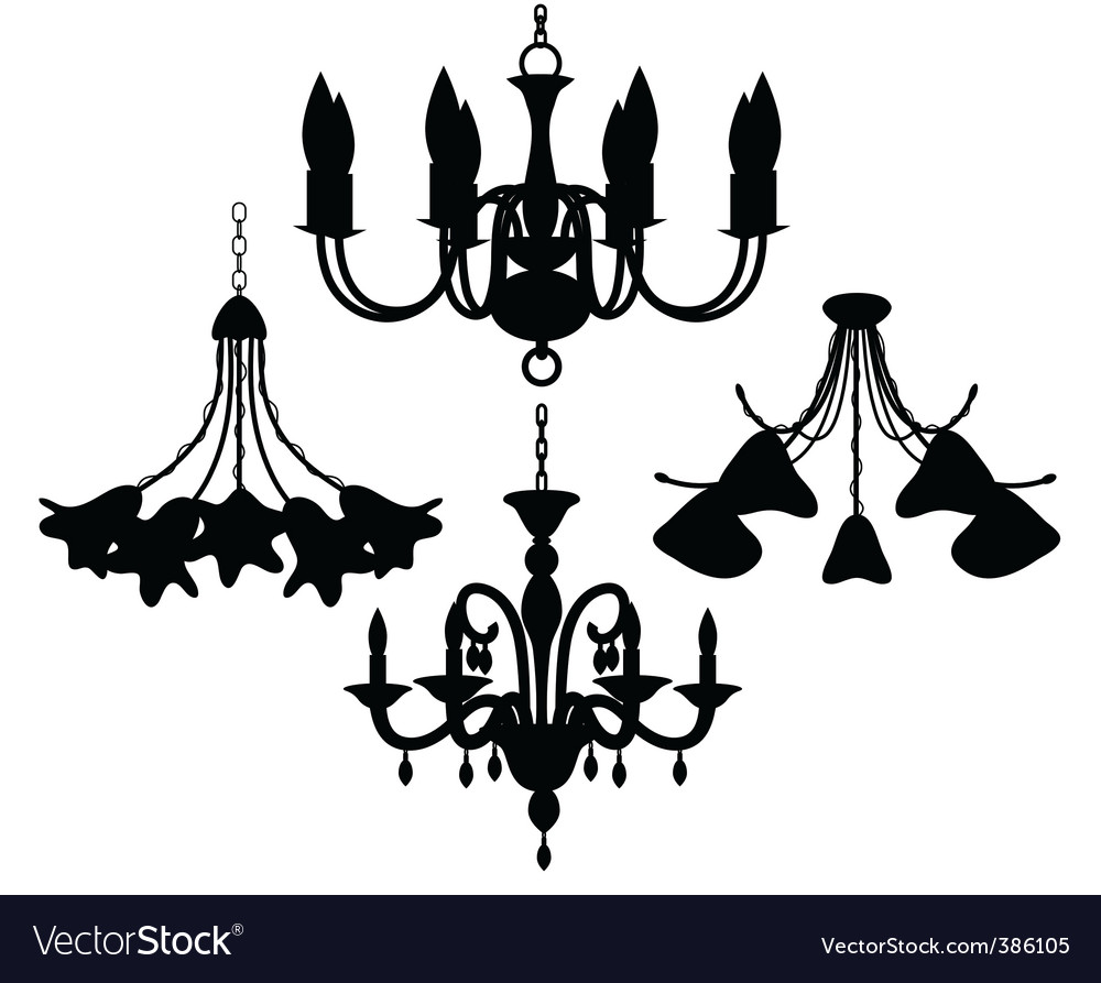 Chandelier set vector | Price: 1 Credit (USD $1)