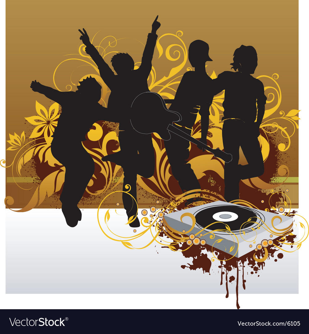 Dj party illustration vector | Price: 3 Credit (USD $3)