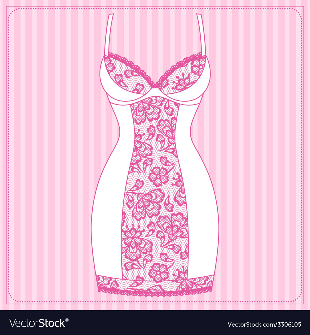 Fashion female lingerie with vintage lace ornament vector | Price: 1 Credit (USD $1)