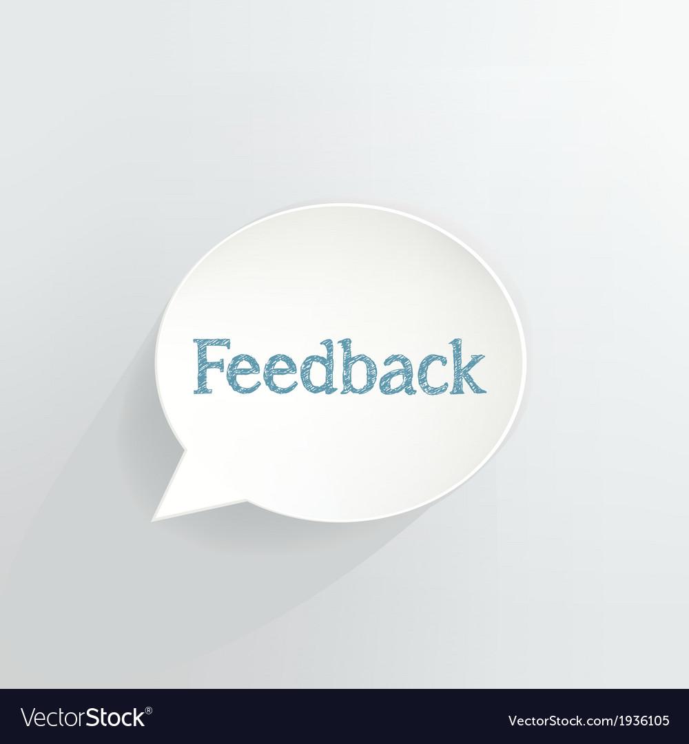Feedback vector | Price: 1 Credit (USD $1)