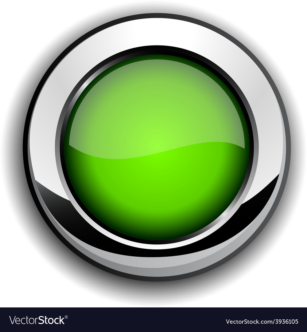 Glossy green button vector | Price: 1 Credit (USD $1)