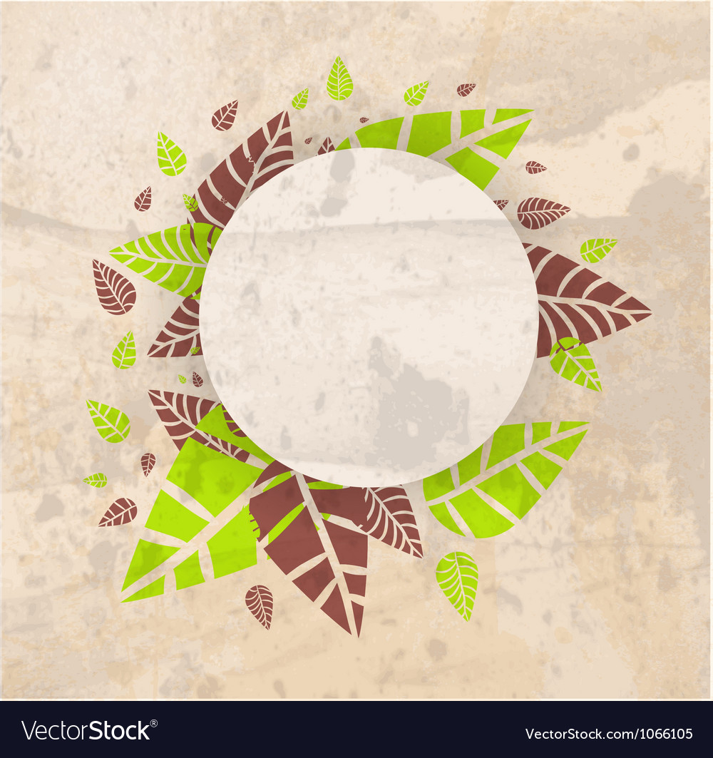 Leaves frame background vector | Price: 1 Credit (USD $1)