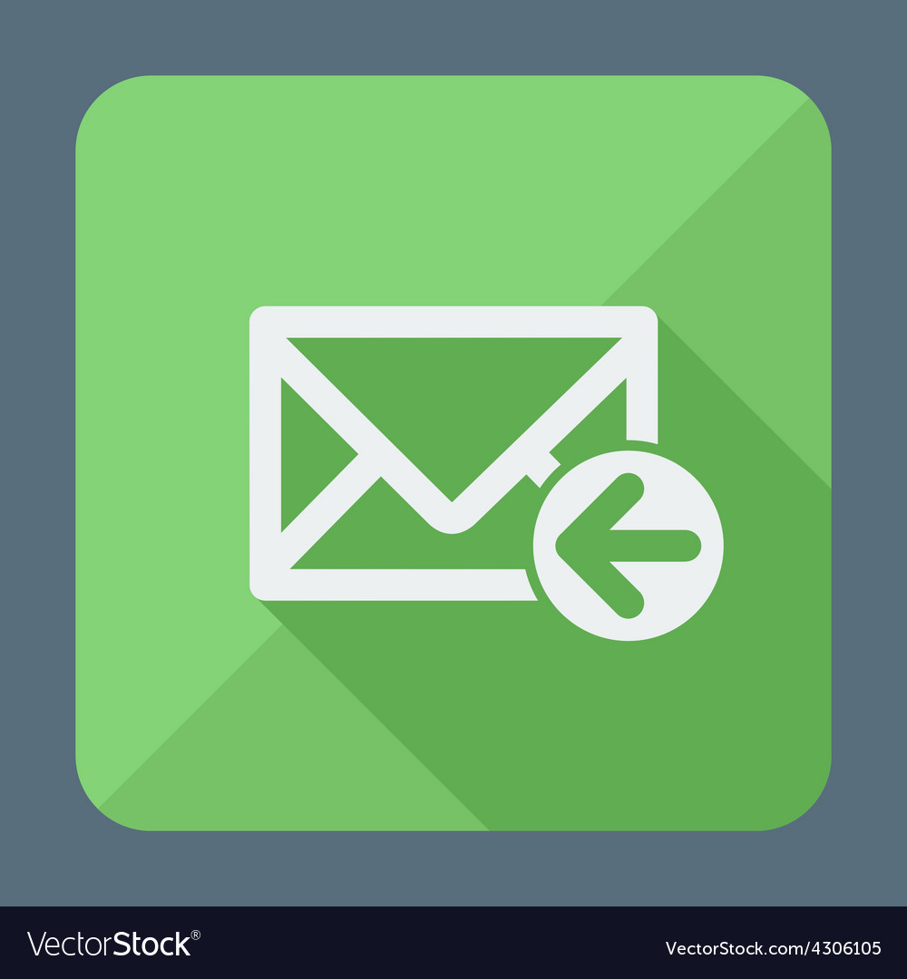 Mail icon envelope with arrow flat design vector | Price: 1 Credit (USD $1)