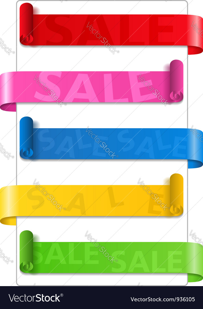 Sale ribbons vector | Price: 1 Credit (USD $1)