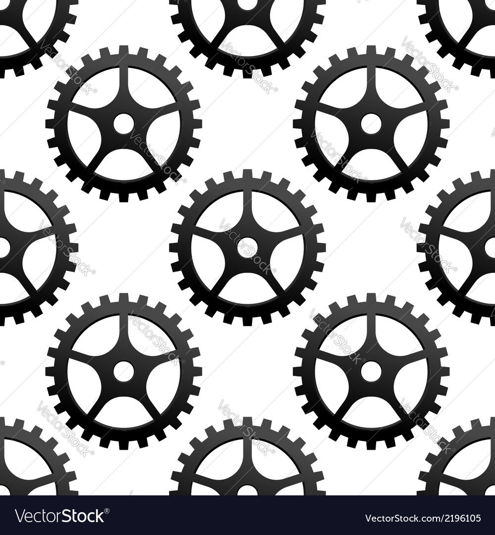 Seamless pattern of industrial gears or cog wheels vector | Price: 1 Credit (USD $1)